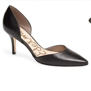 Sam Edelman Opal d'Orsay leather black pumps